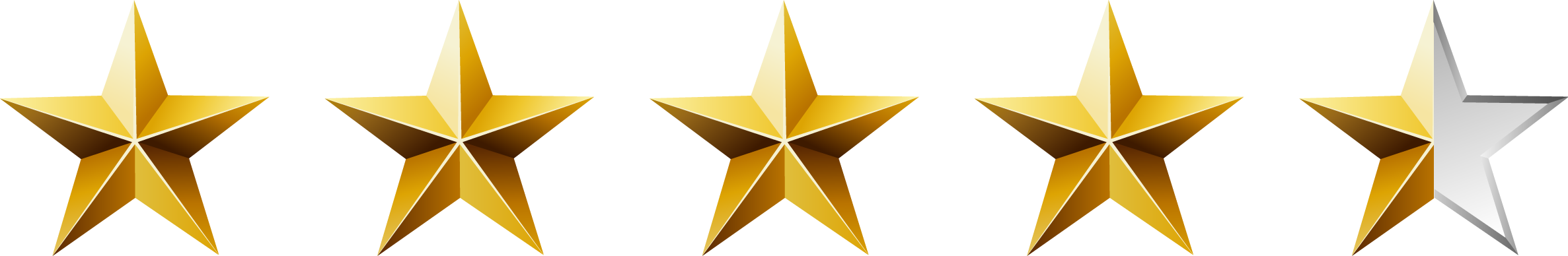 Image result for 4.5 star rating png